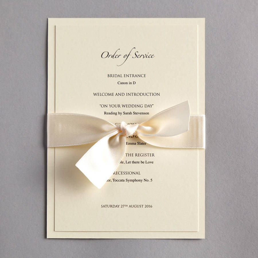 classic wedding invitation by twenty-seven | notonthehighstreet.com