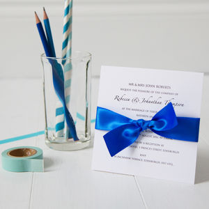 Classic Wedding Invitation - wedding stationery