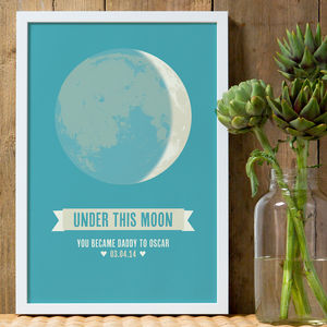 'Under This Moon' Personalised Print - posters & prints
