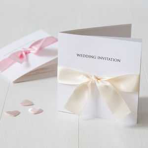 Bow Wedding Invitation - thank you cards
