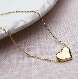 Mini Solid Heart Pendant Necklace - necklaces & pendants