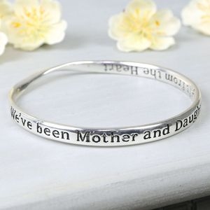 Mother And Daughter Silver Bangle