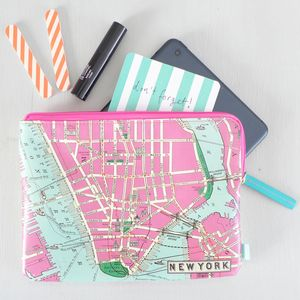 New York Print Travel Pouch - travel & luggage