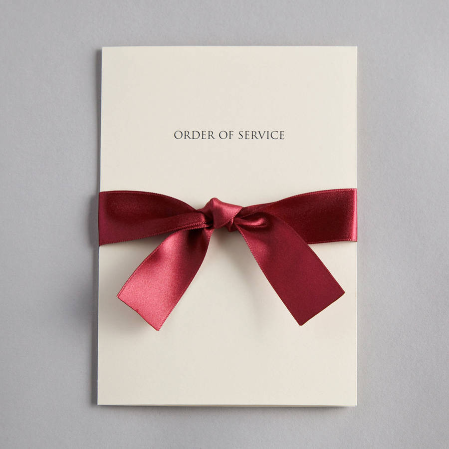bow wedding invitation by twenty-seven | notonthehighstreet.com