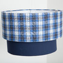 Two Tier Check Lampshade