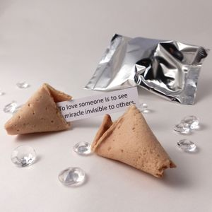 Unusual Wedding Favours: Fortune Cookies: Silver Wrap - edible favours