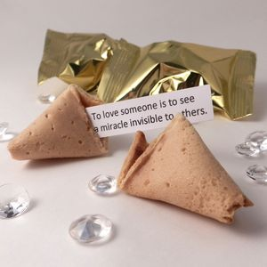 Unusual Wedding Favours: Fortune Cookies: Gold Wrapper - biscuits and cookies