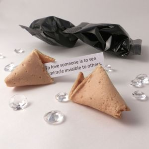 Unusual Wedding Favours: Fortune Cookies: Black Wrapper - edible favours