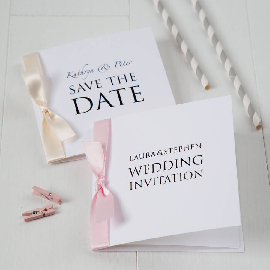 personalised wedding invitation by twenty-seven | notonthehighstreet.com