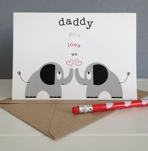 Twins Or Siblings 'We Love You Daddy' Fathers Day Card - cards & wrap