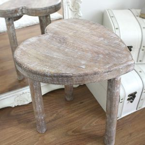 Pair Of Heart Shape Tables - bedside chests & tables