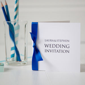 Personalised Wedding Invitation - order of service & programs