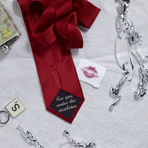 Personalised Message Tie
