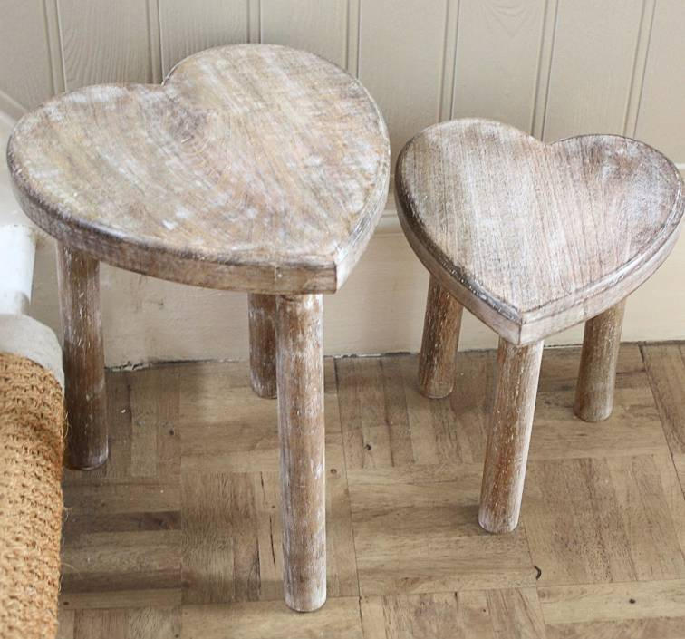 Pair Of Heart Shape Tables By Thelittleboysroom