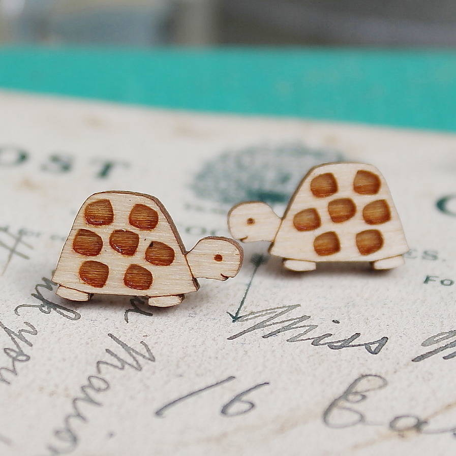 in earrings animal cute original sea stud dotoly products turtle thumbnail rose plus tortoise gold