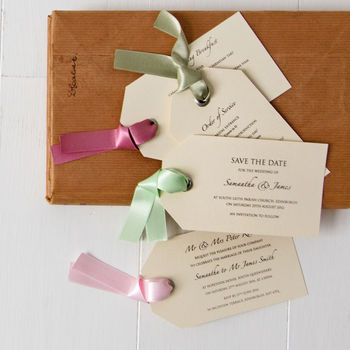 Luggage Tag Wedding Invitation