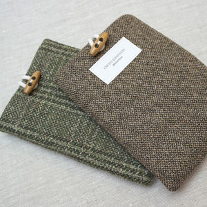 Personalised Tweed Kindle Or iPad Cover