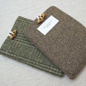 Personalised Tweed Kindle Or iPad Cover