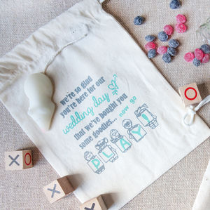 'Now Go Play!' Child'S Fairtrade Cotton Pouch - wedding day activities