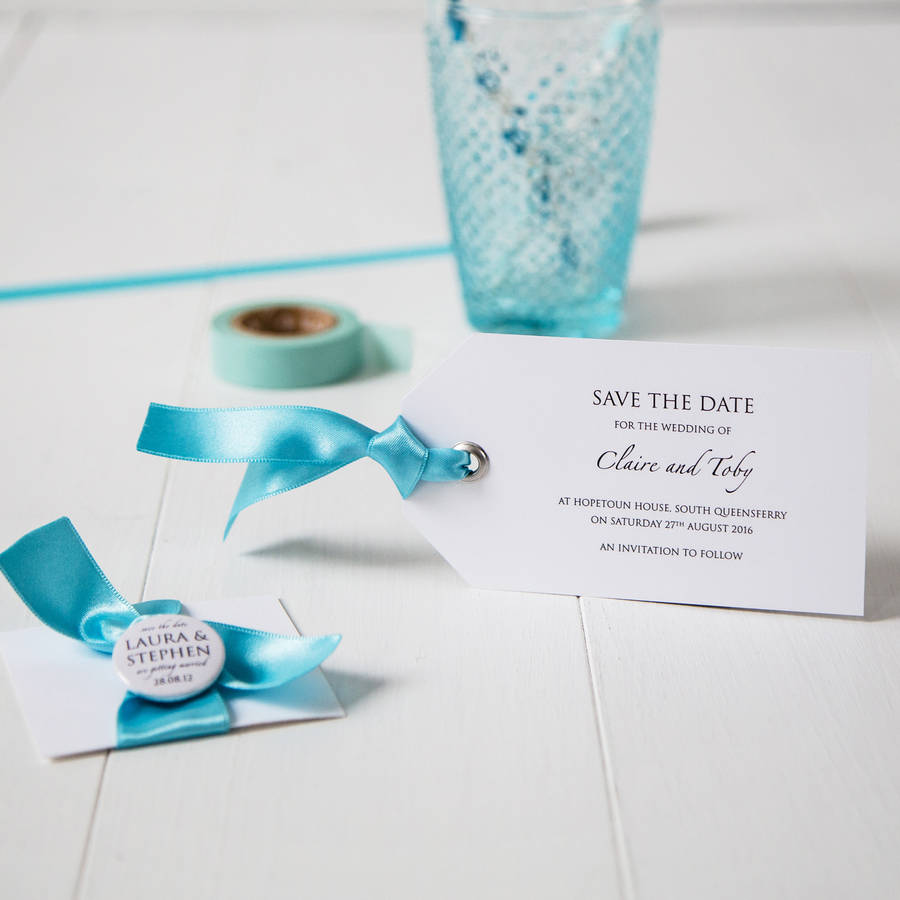 Luggage tag wedding invitation by twenty seven notonthehighstreet luggage tag wedding invitation stopboris Image collections
