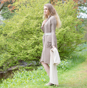 Alpaca Long Dressing Gown - lounge & activewear