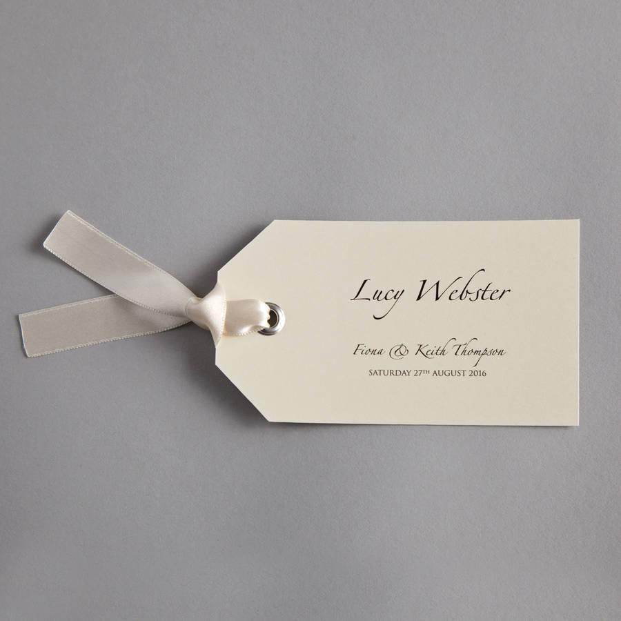 luggage tag wedding invitation by twenty