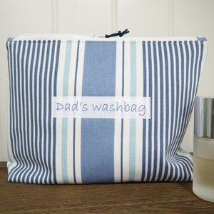 Personalised Men's Striped Washbag - wash bags
