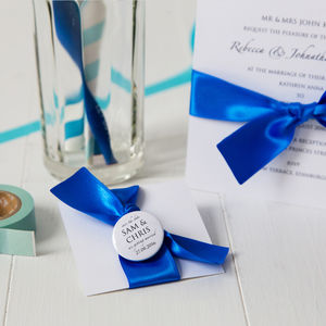 Personalised Save The Date Badge - save the date cards