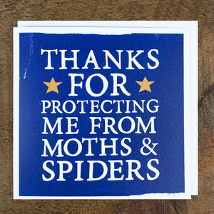 'Moths And Spiders' Card - funny cards