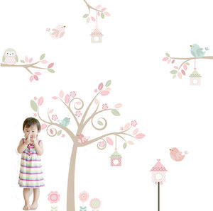 Springtime Tree Fabric Wall Sticker - wall stickers