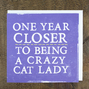 'Crazy Cat Lady' Card - humorous cards