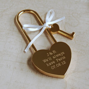 Personalised Love Lock - our memories