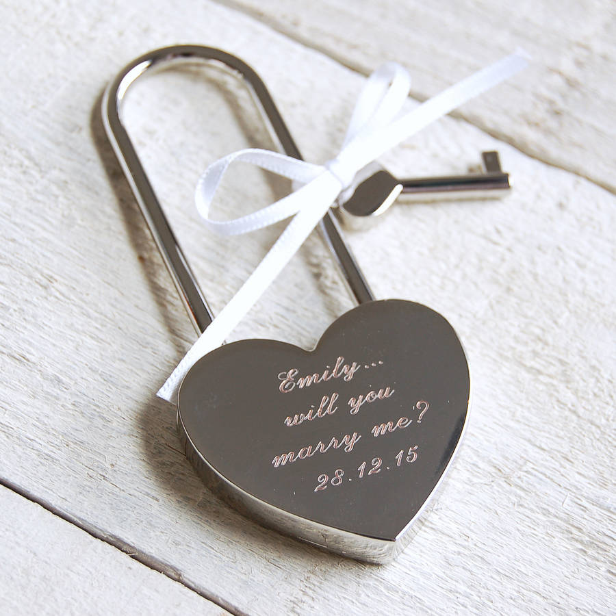 Shoptagr | Personalised Love Lock by Highland Angel