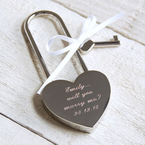 Personalised Silver Love Lock - wedding favours