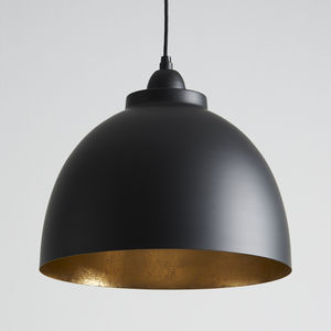 Black And Gold Pendant Light - dining room