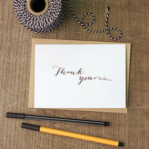 Thank You Greetings Card - thank you cards
