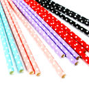 Colourful Spotty Party Straws