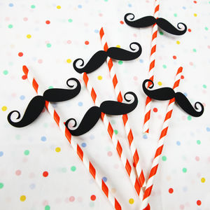 Circus Theme Strong Man Straws - summer parties