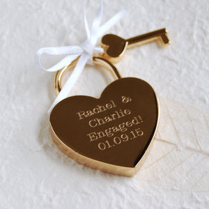 Personalised Lovers' Padlock - engagement gifts