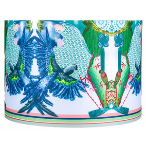 Jenny Collicott Blue Headed Parrot Lampshade - lighting