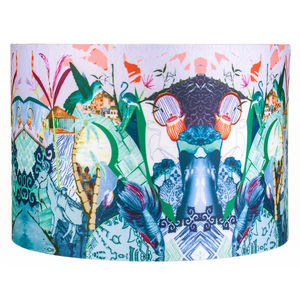 Jenny Collicott Blue Fish Lampshade - lighting