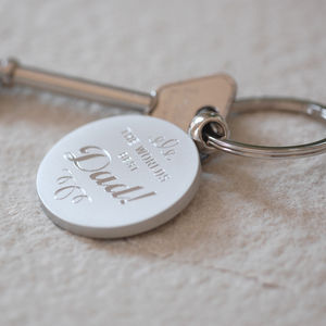 World's Best Dad Key Ring