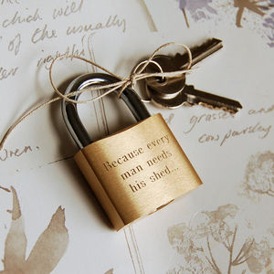 Personalised Padlock - home sale
