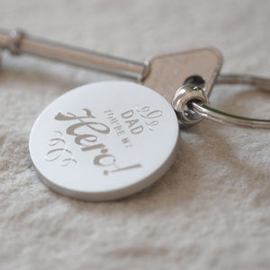 Dad My Hero Key Ring - 'father of the bride' fashion and accessories