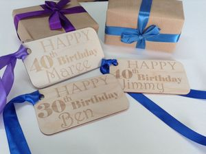 Personalised Over Sized Gift Tag