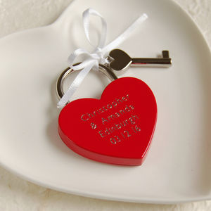 Personalised Red Love Lock - wedding favours