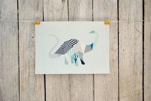 Geometric Diplodocus Print