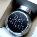 'Happy Thoughts' Glass Jar