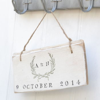 Wedding Garland Sign