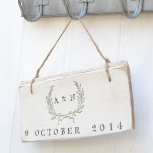 Wedding Garland Sign - outdoor decorations